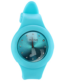 Analog Wrist Watch Round Dial - Sky Blue