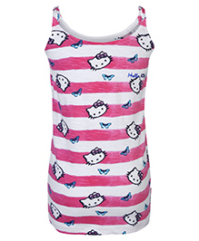Hello Kitty Printed Singlet Top - Pink And White