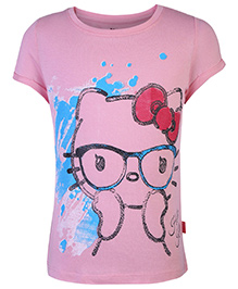 Hello Kitty Printed Half Sleeve Top - Pink