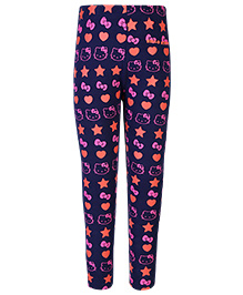 Hello Kitty Leggings Kitty And Star Print - Navy