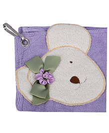 L'Orange Teddy Bear Motif Hand Napkins Small Size - Purple
