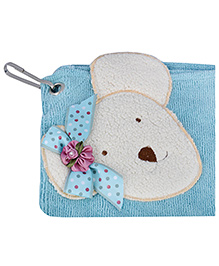 L'Orange Teddy Bear Motif Hand Napkins Small - Blue