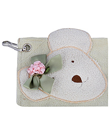 L'Orange Teddy Bear Motif Hand Napkins Small - Green
