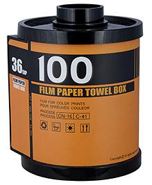 L'Orange Film Roll Pattern Tissue Holder Meduim- Khaki