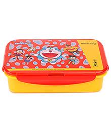 Doraemon Lunch Box With Clip Lock -  Yellow