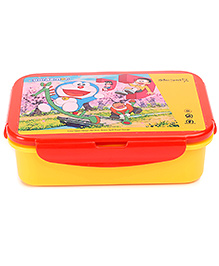 Doraemon Lunch Box With Clip Lock -  Yellow And Red
