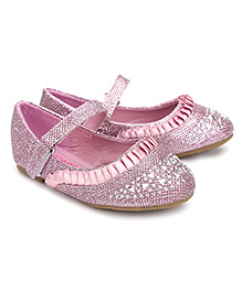 Kittens Party Belly Shoes Sequin Embellishment - Pink