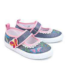 Kittens Casual Shoes With Velcro Closure Butterfly Patch - Blue