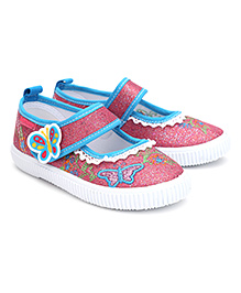 Kittens Casual Shoes With Velcro Closure Butterfly Patch - Fuchsia