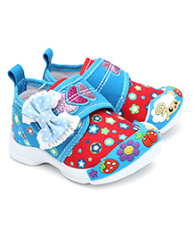 Kittens Casual Shoes With Velcro Closure Bow Applique - Blue