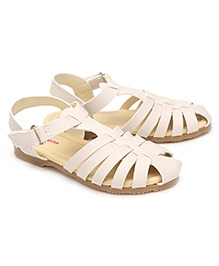 Kittens Casual Sandals Velcro Closure -  White