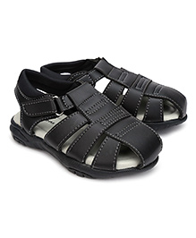 Kittens Casual Sandals Velcro Closure - Black