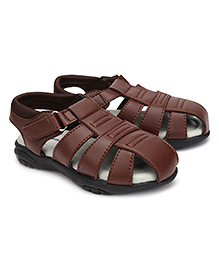 Kittens Casual Sandals Velcro Closure - Brown