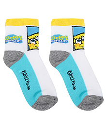 Spongebob Kids Socks  - Light Yellow And White