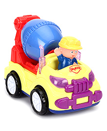 Mitashi Sky Kidz Budding Builder Cement Mixer - Red And Yellow