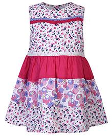 Nauti Nati Sleeveless Floral Printed Frock - Pink