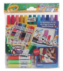 Crayola - Pipsqueaks Washable Markers N Sticker Set