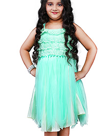 Babyhug Singlet Party Frock Layered Bodice - Light Green