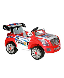 Marktech Battery Operated Ride On Police Car - Red