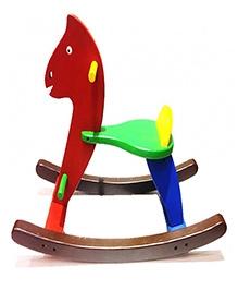 Desi Toys Majedar Wooden Ghoda Gadi