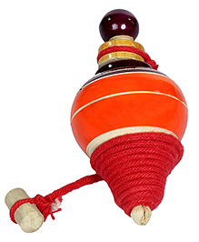 Desi Toys Lattu With Wooden Bottom