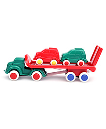 Viking Car Transporter Truck With 2 Cars - Multicolour