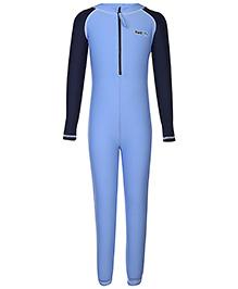 PineHill Full Sleeves One Piece Legged Swimsuit - Blue