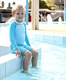 PineHill Full Sleeves Two Piece Swimsuit - Blue