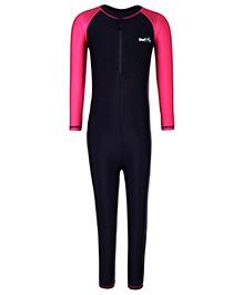 Pinehill Full Sleeves One Piece Legged Swimsuit - Black