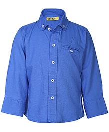 Gini & Jony Full Sleeves Shirt - Royal Blue