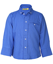 Gini & Jony Full Sleeves Shirt - Royal Blue