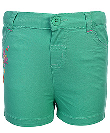 Beebay Shorts Butterfly Embroidery - Green