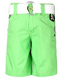 Noddy Shorts With Belt 91 Patch - Light Green