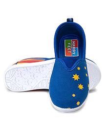 HappyFeet Flag Casual Slip-On Shoes - Royal Blue