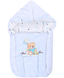 Mee Mee Carry Nest Teddy Bear With Balloon Patch - Blue
