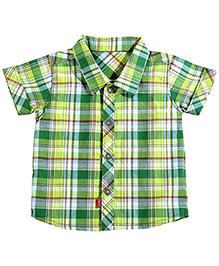Absorba On-The-Go Green Checkered Shirt
