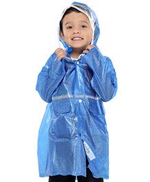 Babyhug Full Sleeves Crystal Raincoat - Blue