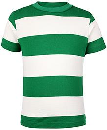 Nauti Nati Half Sleeves Crew Neck Striped T Shirt - Green