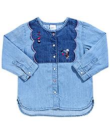 H&M Classic Embroidered Denim Shirt
