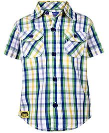 Nauti Nati Half Sleeves Checks Shirt With Two Pockets - Multicolor