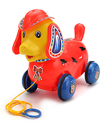 Luvely Pull Along Fantastic Puppy - Red And Yellow