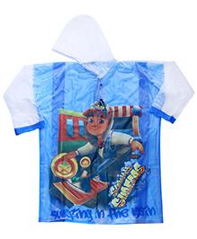 Babyhug Raincoat Subway Surfers Print - Blue