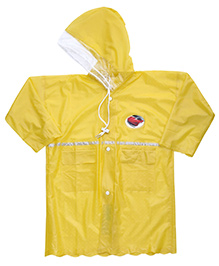 Babyhug Crystal Raincoat Car Patch - Yellow