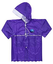 Babyhug Crystal Raincoat Fish Patch - Purple