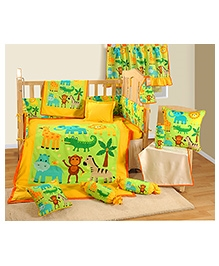 Swayam 7 Piece Complete Baby Crib Set - Friends