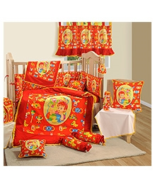 Swayam 7 Piece Complete Baby Crib Set - Pure Red
