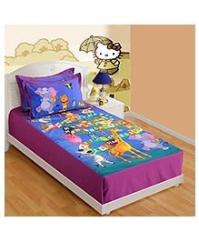 Swayam Digital Print Single Baby Bed Sheet With One Pillow Cover - Games