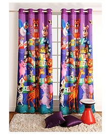 Swayam Digitally Printed Kids Door Curtain With Eyelets - Ladder