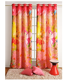 Swayam Digitally Printed Kids Window Curtain With Eyelets - Fairy Friends
