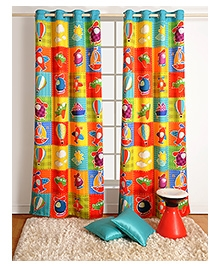 Swayam Digitally Printed Kids Door Curtain With Eyelets - Aeroplanes